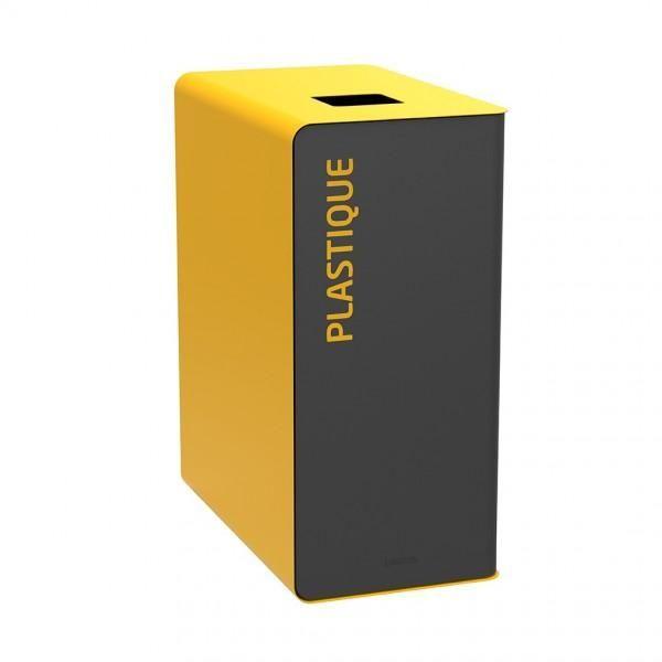 Bornes de tri design jaune (photo)