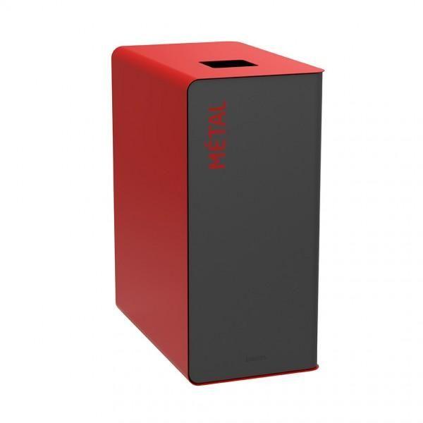 Bornes de tri design rouge (photo)