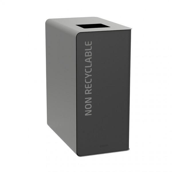 Bornes de tri design gris clair (photo)