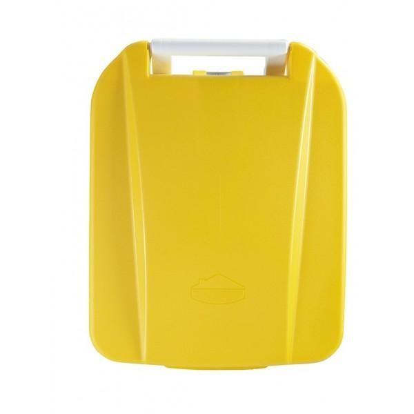 Poubelle alimentaire mobile à pédale jaune contenance : 60 l