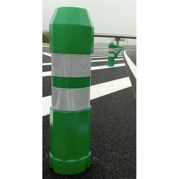 Balise routière autorelevable blanche, verte ou jaune vert