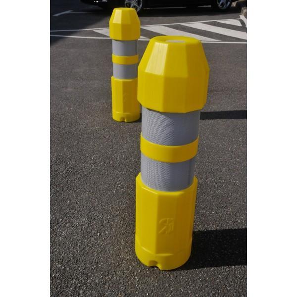 Balise routière autorelevable blanche, verte ou jaune jaune