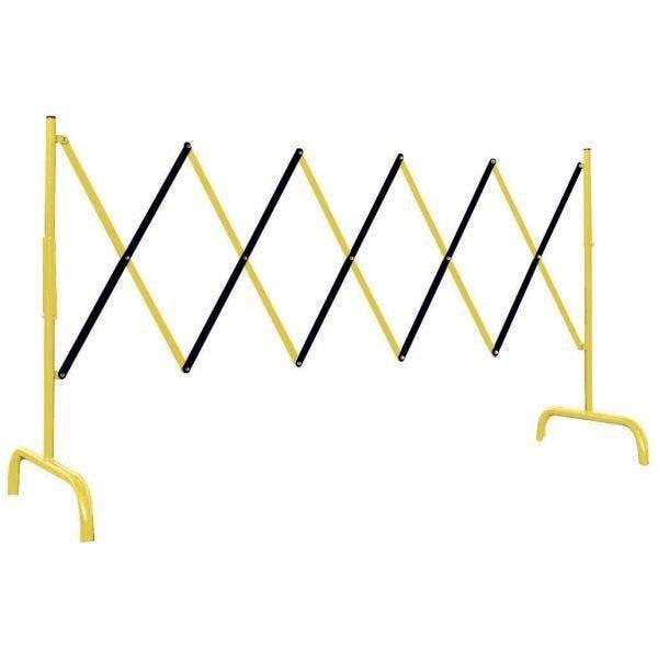 Barrière de chantier accordéon rouge et blanc ou jaune et noir jaune
