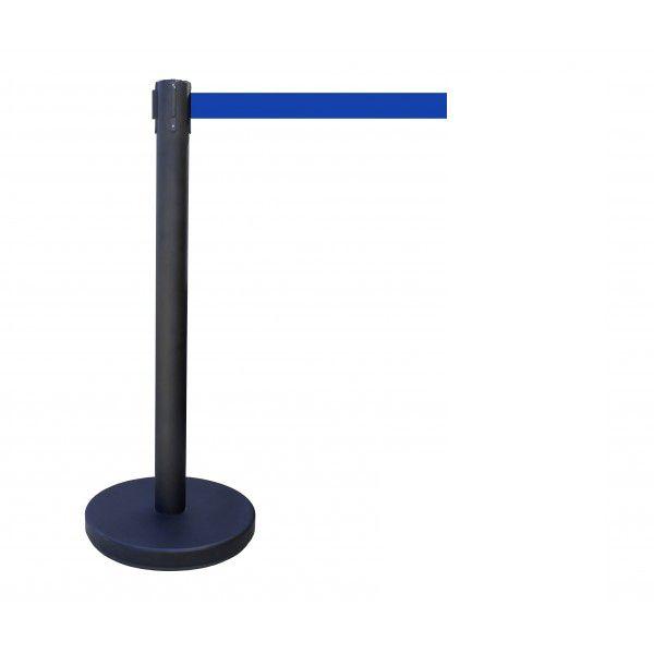 Poteau à sangle couleur du poteau : noir couleur de sangle : bleu