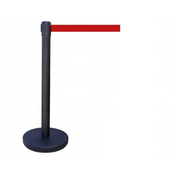Poteau à sangle couleur du poteau : noir couleur de sangle : rouge