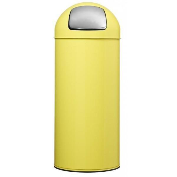 Poubelle à trappe color jaune