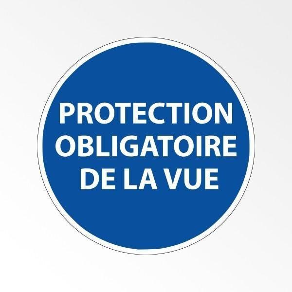 Panneau d'obligation de port d'epi 'protection obligatoire de la vue' - 100 mm