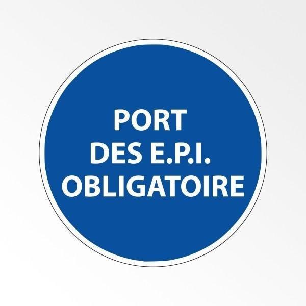 Panneau d'obligation de port d'epi 'port des e.p.i. Obligatoire' pvc - 315 mm