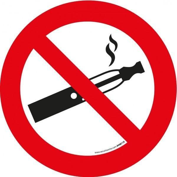 Pictogramme d'interdiction 'interdiction de vapoter' - 100 mm (photo)