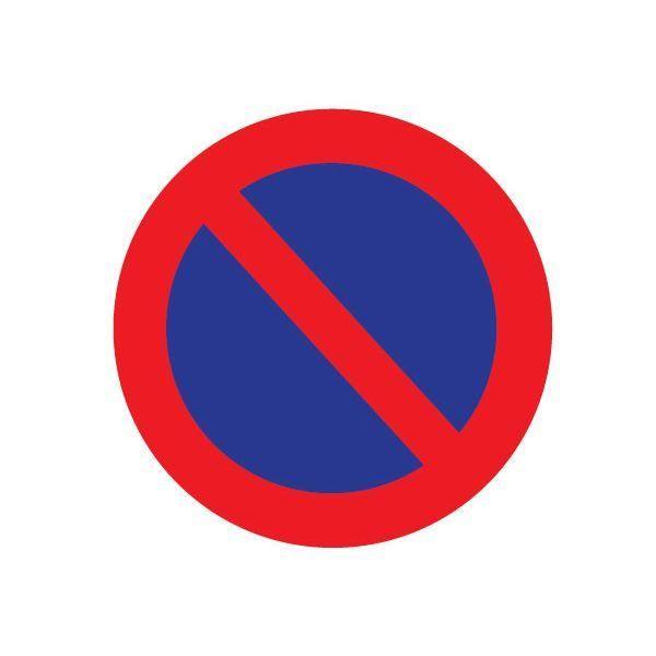 Papiers autocollants - stationnement interdit carré - par lot de 20