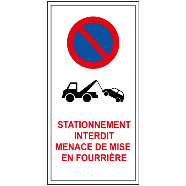Papiers autocollants - stationnement interdit - par lot de 20