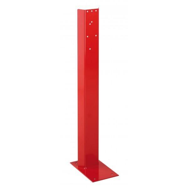 Support pour extincteur en acier rouge (photo)