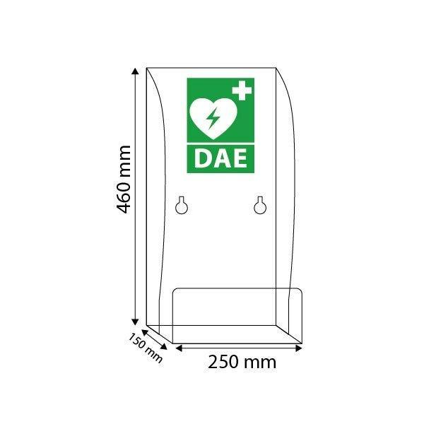 Support mural pour défibrillateur Avec Signalétique DAE