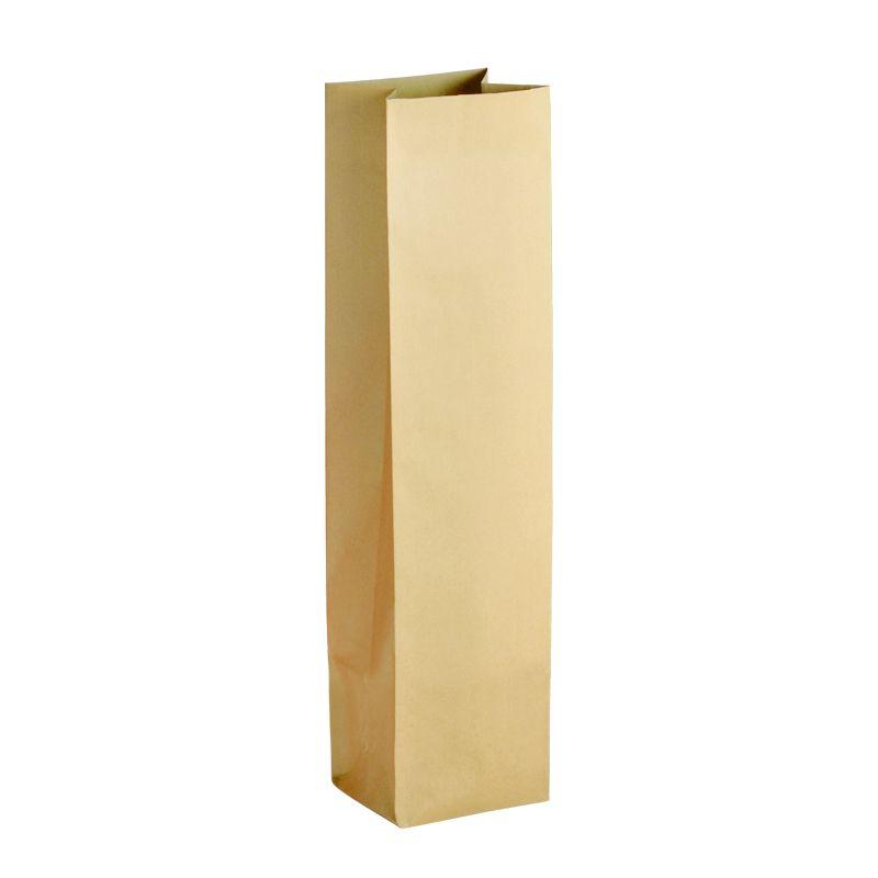 Pochette cadeau bouteille kraft brun 10+8x41cm x1500 pcs