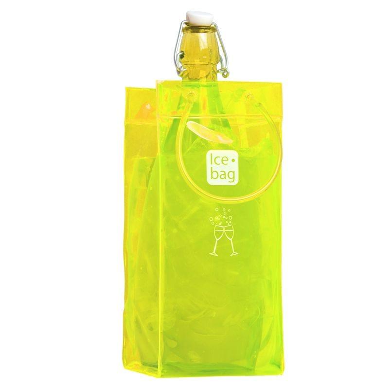 Ice.bag® classic yellow - rafraîchisseur 1 bouteille 11+11x25,5cm x72 pcs