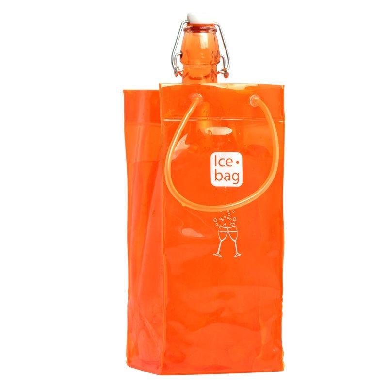 Ice.bag® classic orange - rafraîchisseur 1 bouteille 11+11x25,5cm x120 pcs