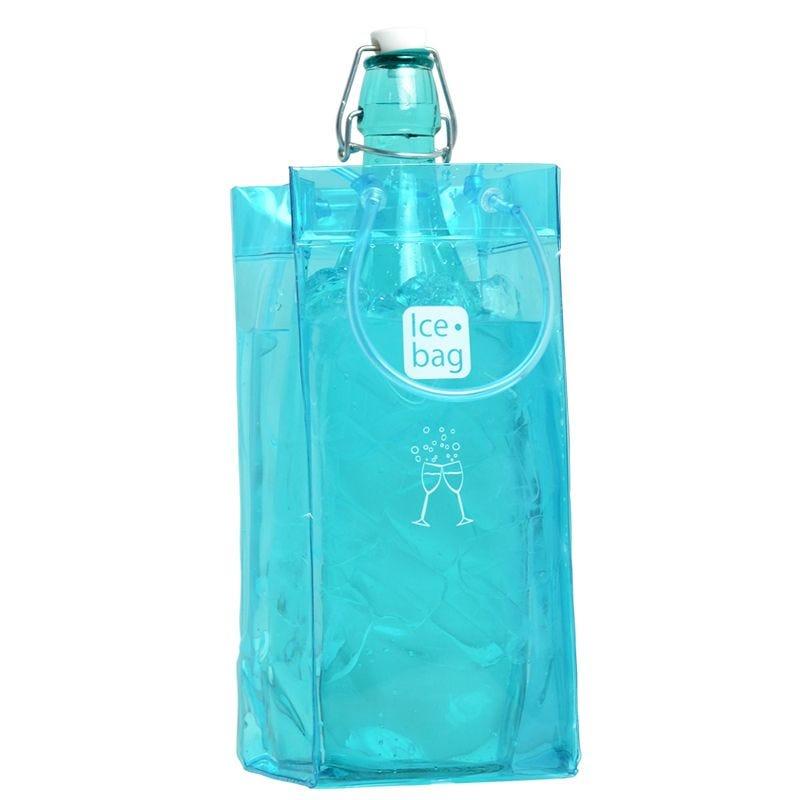 Ice.bag® classic frost blue - rafraîchisseur 1 bouteille 11+11x25,5cm x24 pcs