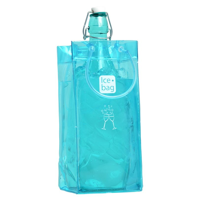 Ice.bag® classic frost blue - rafraîchisseur 1 bouteille 11+11x25,5cm x240 pcs