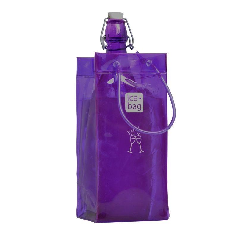 Ice.bag® classic purple - rafraîchisseur 1 bouteille 11+11x25,5cm x72 pcs