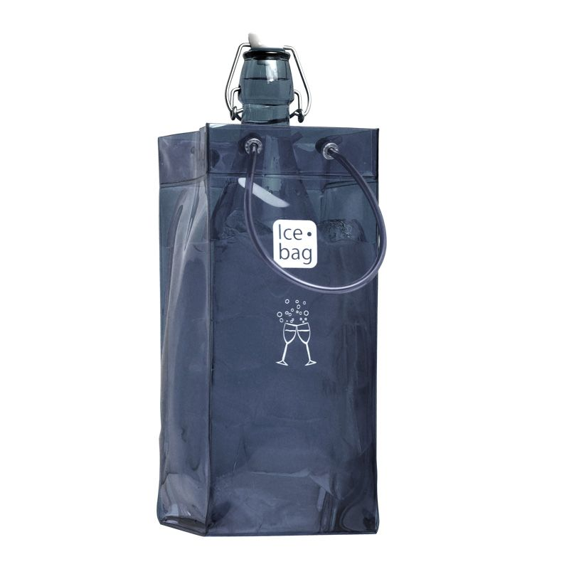 Ice.bag® classic smoke grey - rafraîchisseur 1 bouteille 11+11x25,5cm x120 pcs