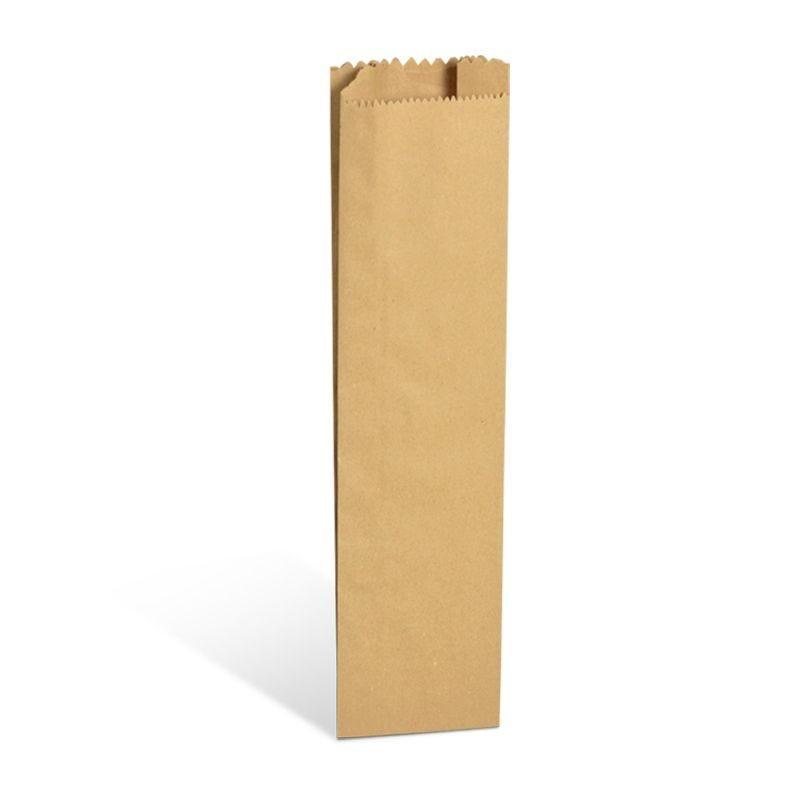 Pochette cadeau/bouteille rustique brun kraft alimentaire 12+6x49cm x3000 pcs