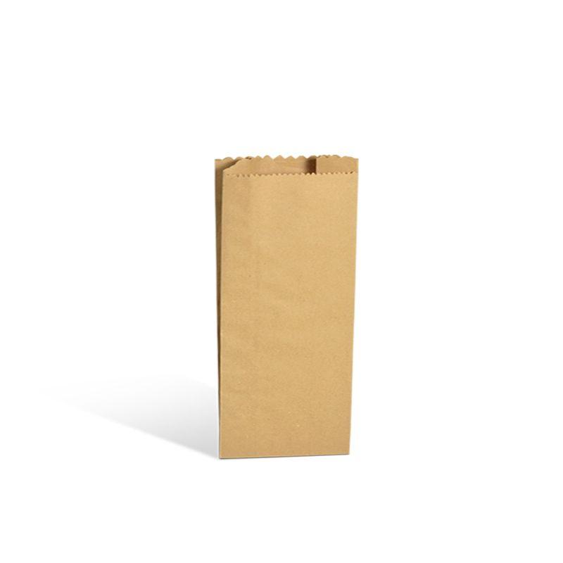 Pochette cadeau rustique kraft brun alimentaire 12+6x25cm x1000 pcs