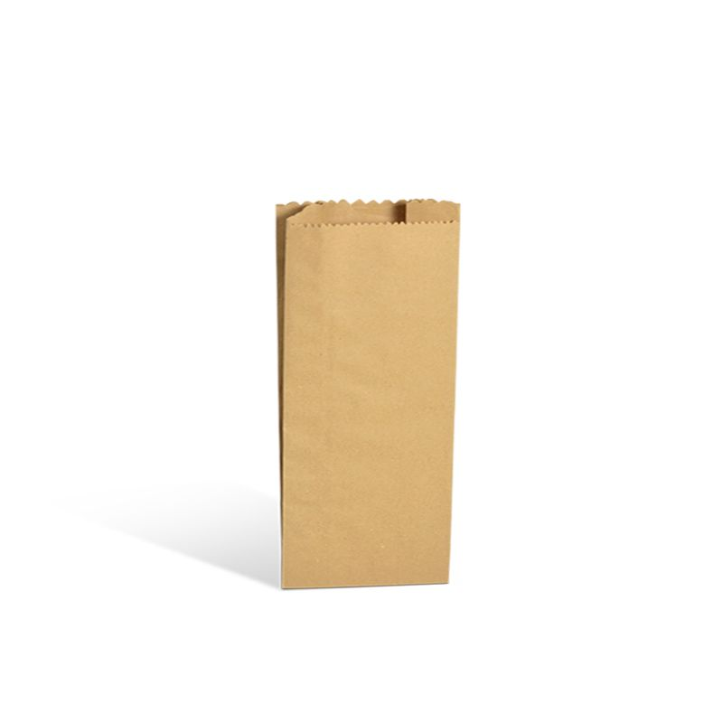 Pochette cadeau rustique kraft brun alimentaire 12+6x25cm x5000 pcs