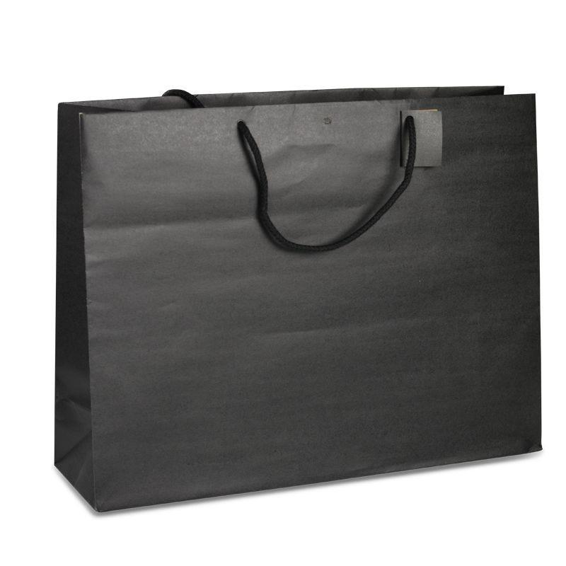 Sac boutique kraft noir Giant Poignées cordelières 52+16x40cm x500 pcs