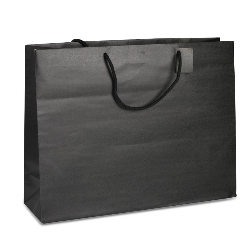 Sac boutique kraft noir Giant Poignées cordelières 52+16x40cm x250 pcs