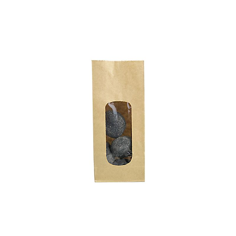 Sac fond sos fenêtre XL kraft brun lisse 250 ml 9+5x20,5cm par 6000
