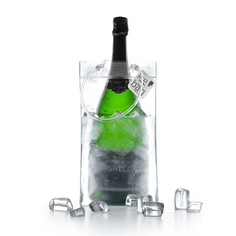 Ice.bag® king transparent rafraîchîsseur 1 magnum 15+15x29cm x480 pcs