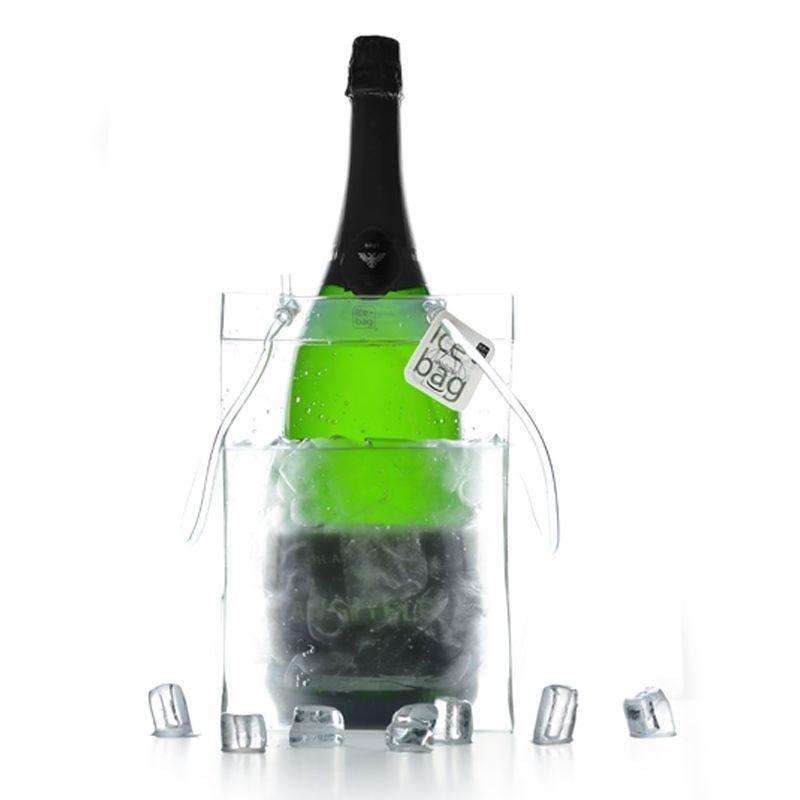 Ice.bag® giant transp. - rafraîchisseur 2 magnums 1 jeroboam 19+19x30cm x40 pcs