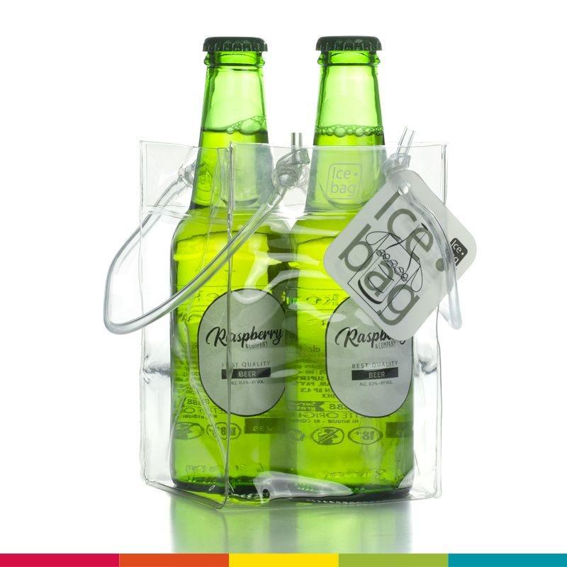 Ice.bag® baby transparent - rafraîchisseur canette 9,5+9,5x15cm x120 pcs