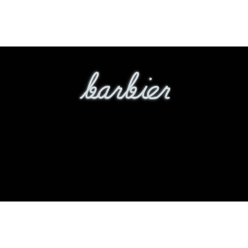 Mot lumineux 'barbier'
