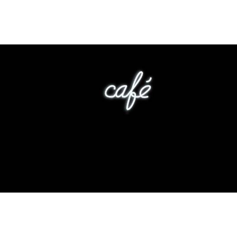Mot lumineux 'café'