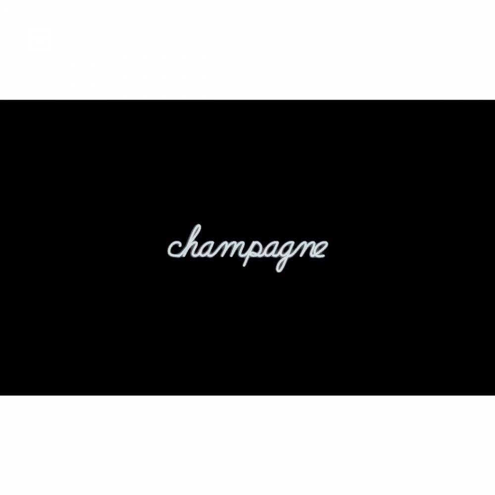 Mot lumineux 'champagne'