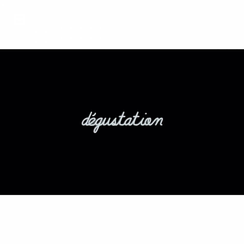 Mot lumineux 'dégustation'