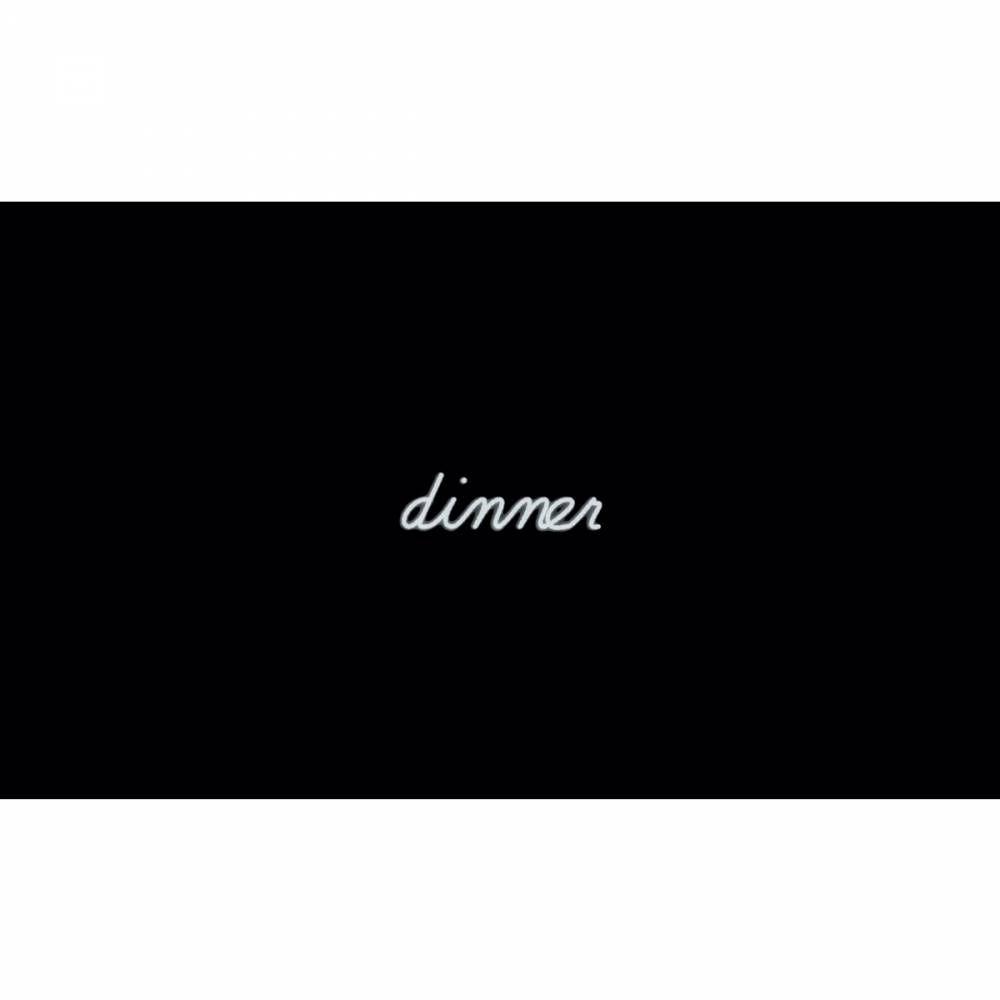 Mot lumineux 'dinner'