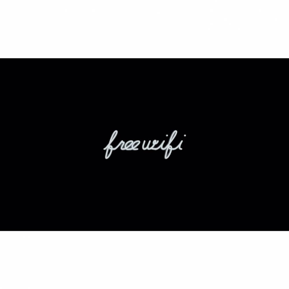 Mot lumineux 'free wifi'