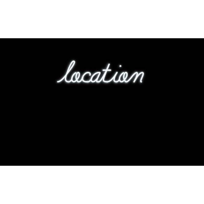 Mot lumineux 'location'