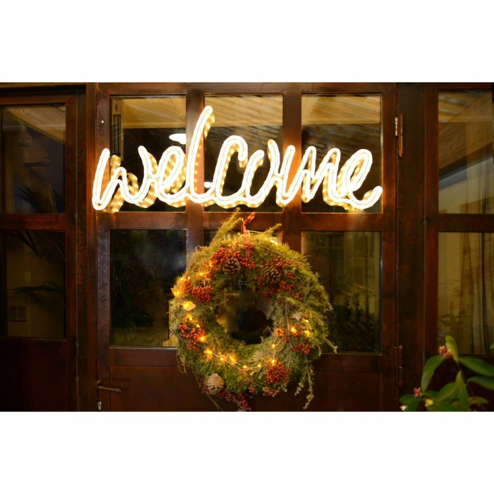 Mot lumineux 'welcome'