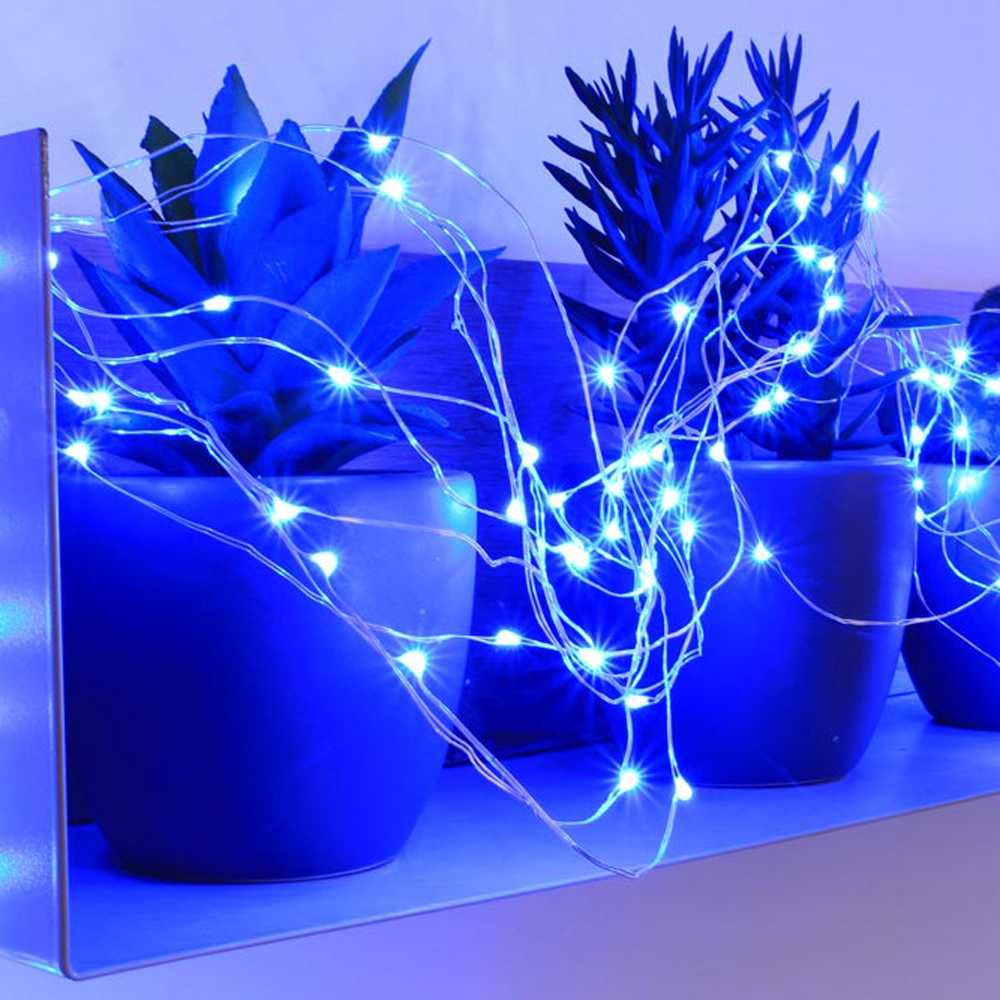 Branchage micro led bleu - 2,00 m (photo)