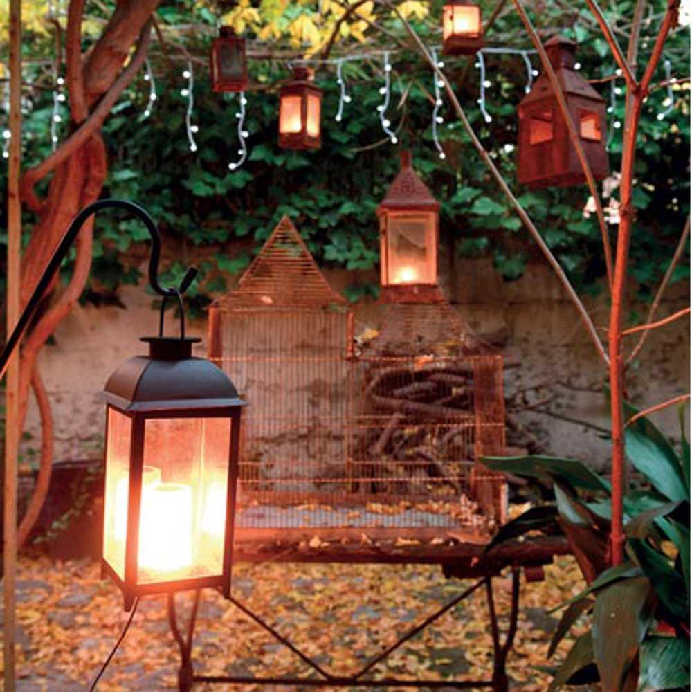 Lanterne bougie led - 28 cm (photo)