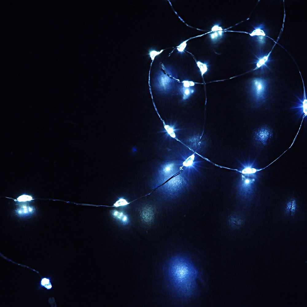 Guirlande micro led bleu - 1,00 m (photo)