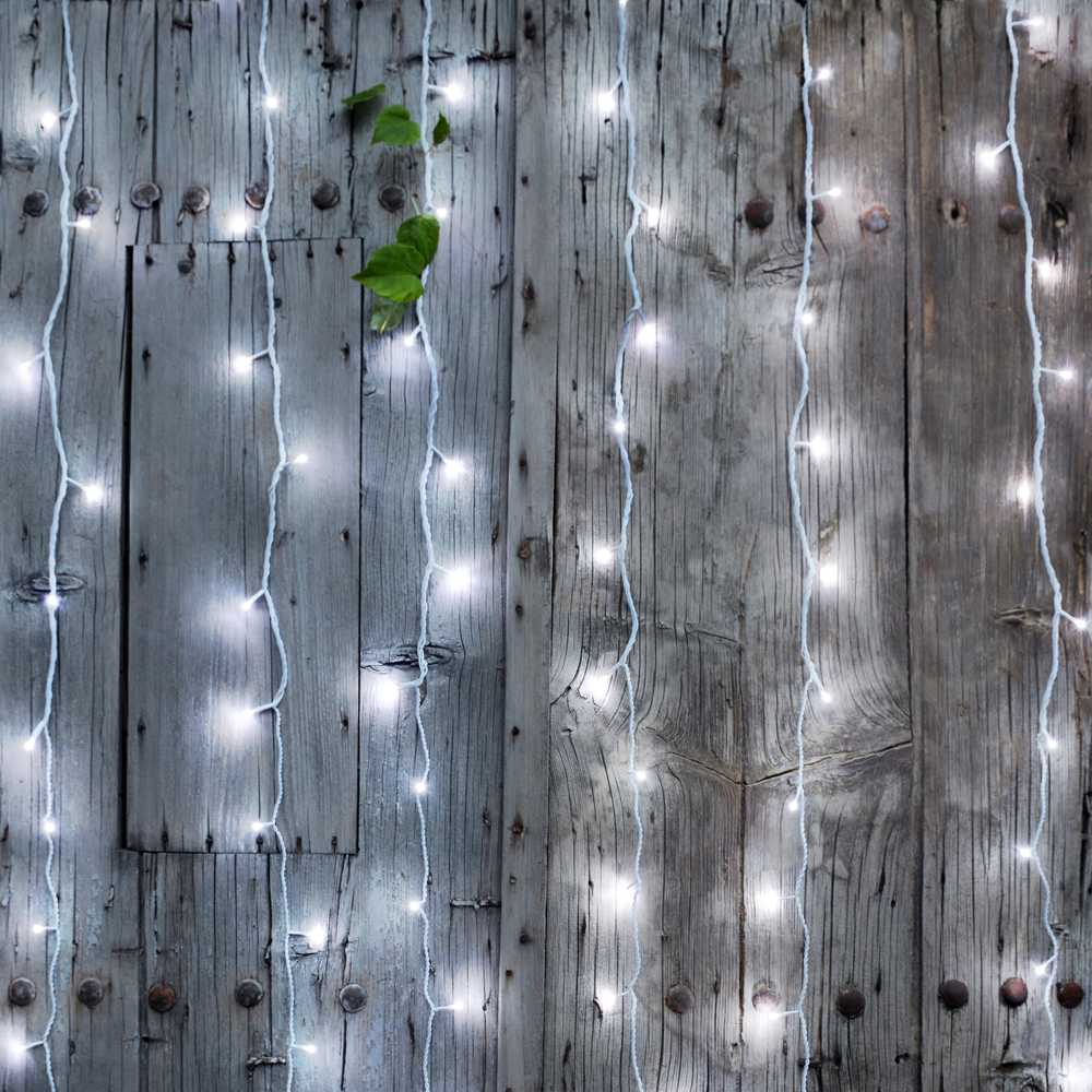 Rideau led flicker light® blanc pur - 2,00 mx2,00 m (photo)