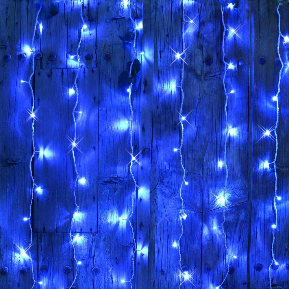 Rideau led flicker light® bleu - 2,00 mx2,00 m (photo)