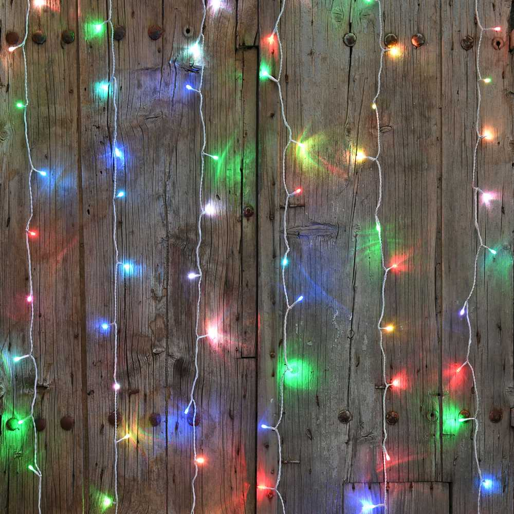 Rideau led flicker light® rgb - 2,00 mx2,00 m (photo)