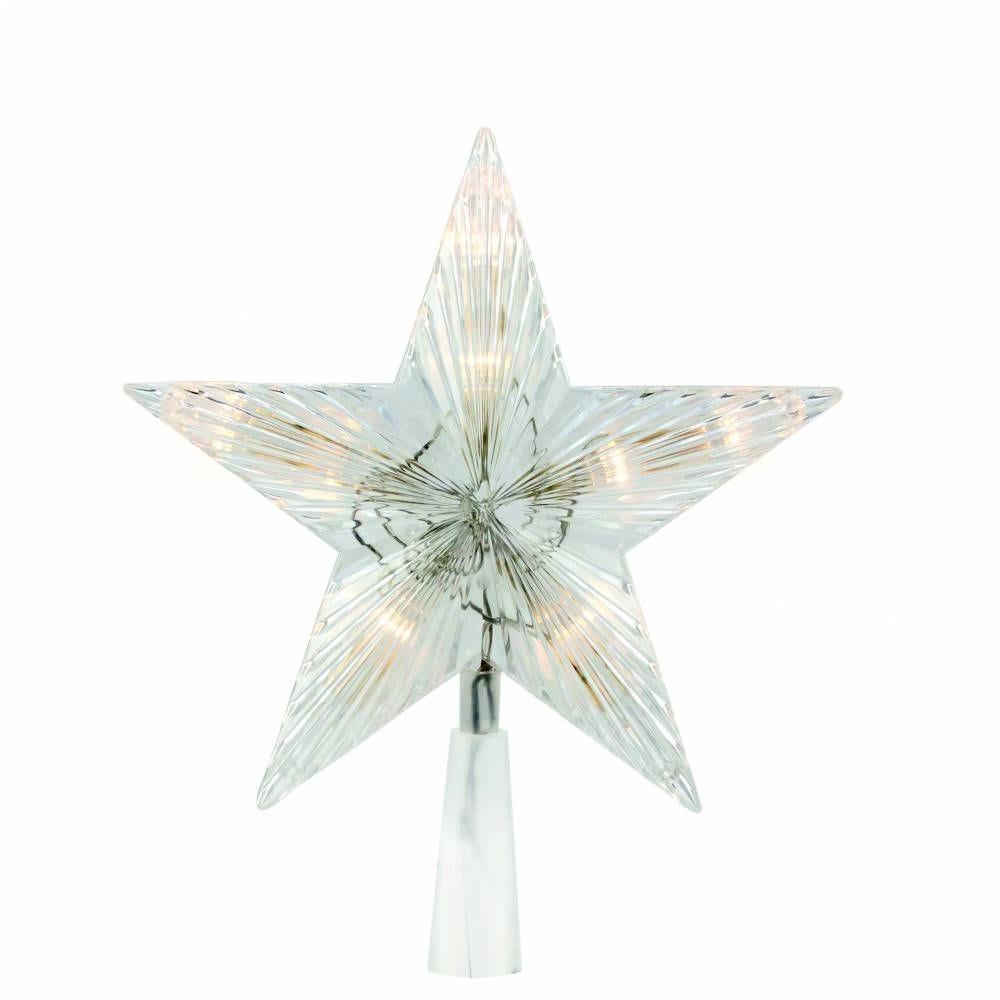 Cimier étoile led blanc chaud & flash - 20 cm (photo)
