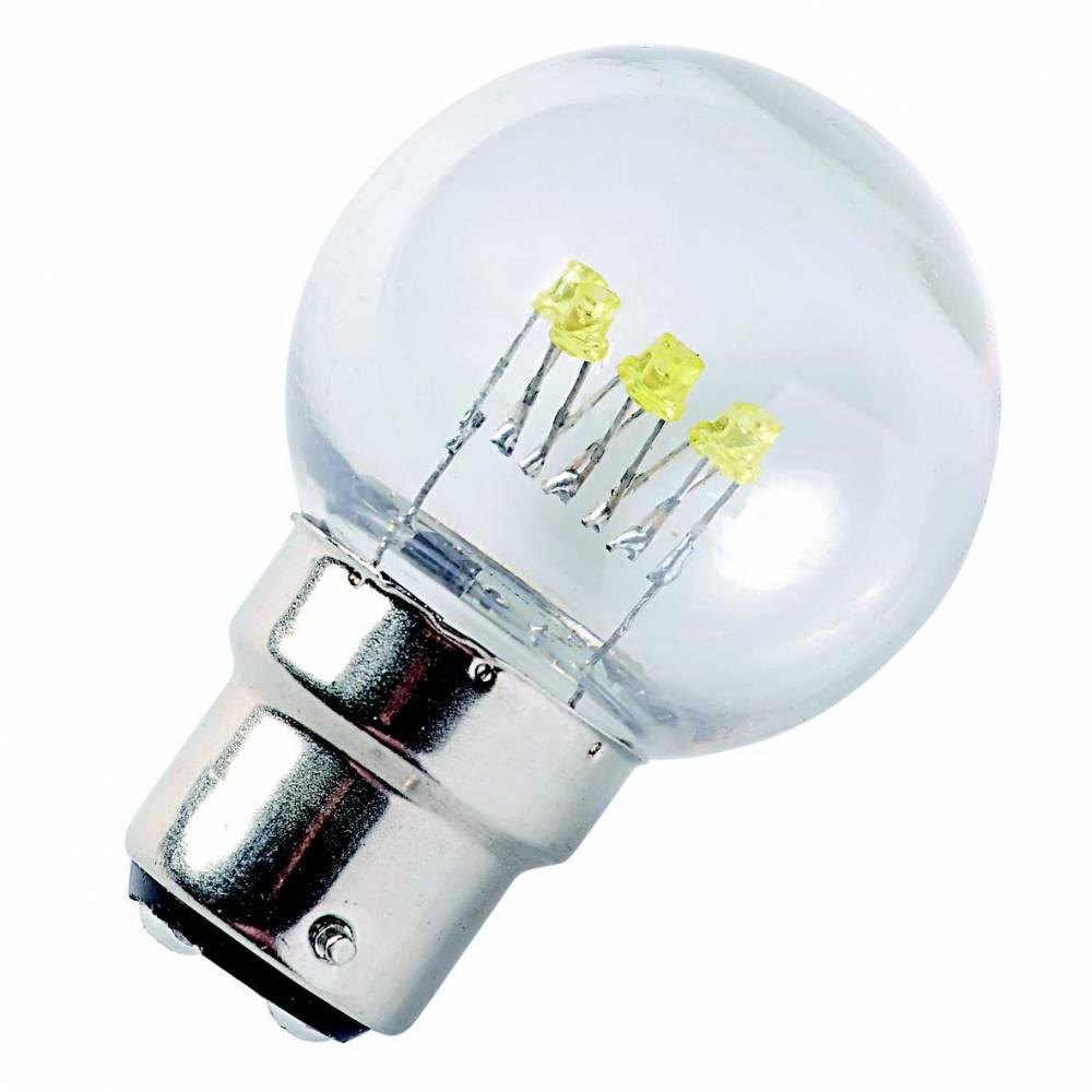 Lampes b22 led blanc chaud - par 10 (photo)
