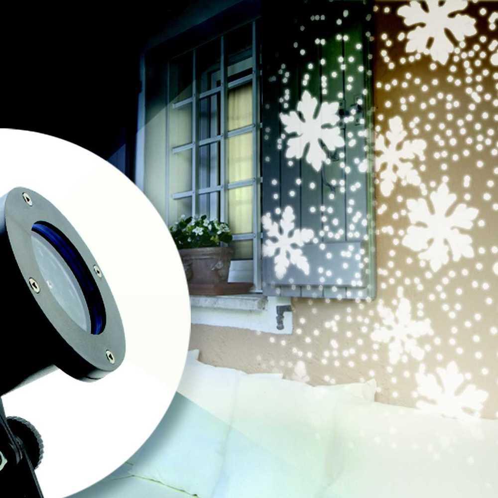 Projecteur led flocons de neige (photo)